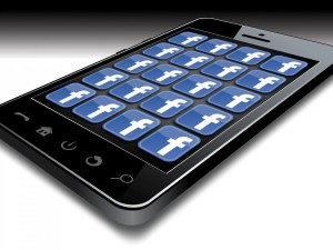 Facebook Smartphone. Courtesy: Grinda, CC by SA, Wikimedia Commons